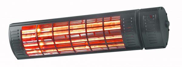 8713415334531 Golden 2000 Ultra RCD Black elektrische terrasverwarmer met afstandsbediening