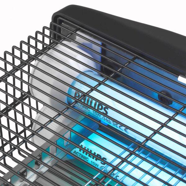 8713415211870 Fly Away 30 waterproof elektrische insectendoder UV lampen hoogspanningsrooster 3500 Volt