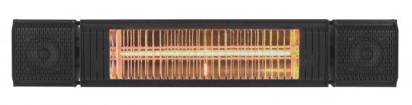 8713415334579 Heat and Beat black elektrische terrasverwarmer met LED bluetooth en bediening via app