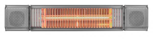 8713415334586 Heat and Beat grey elektrische terrasverwarmer met LED bluetooth en bediening via app