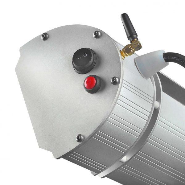 8713415334104 Golden 2000 Amber Smart elektrische terrasverwarmer met bluetooth bediening en afstandsbediening