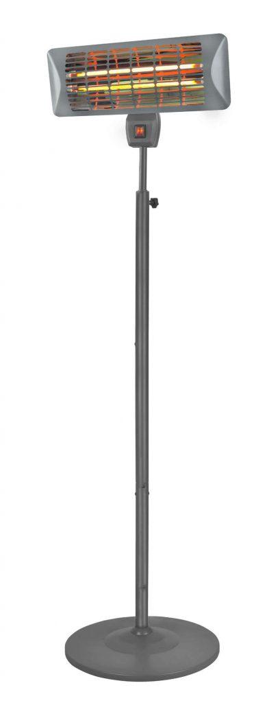 8713415342203 Q-time 2000S staande elektrische terrasverwarmer kwarts