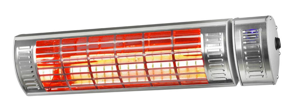 8713415333893 Golden 2000 Ultra RCD elektrische terrasverwarmer weinig licht met afstandsbediening