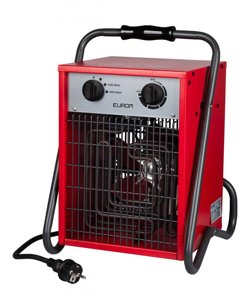 8713415332636 EK3301 elektrische ventilatorkachel industriële verwarming werkplaatskachel 3000 Watt
