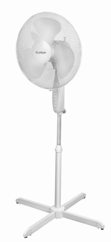 8713415385458 VS16-blanc staande ventilator met zwenkfunctie