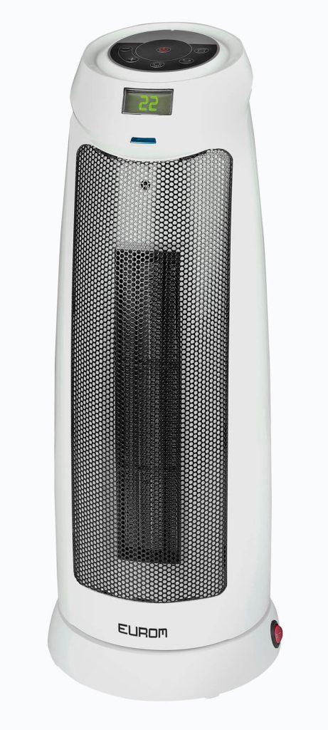 8713415342000 Safe-t-heater 2000T-RC staande keramischel kachel elektrische verwarming 2000 Watt zwenkfunctie draaiend met afstandsbediening