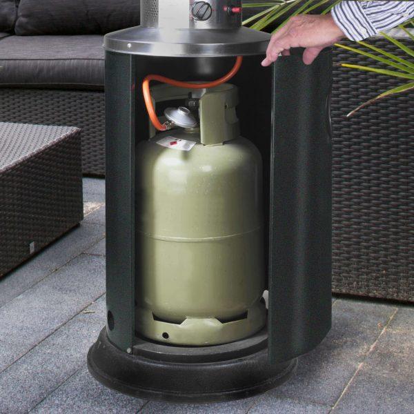 8713415324228 Flameheater 9000 Watt terrasverwarmer op gas zichtbare vlammen