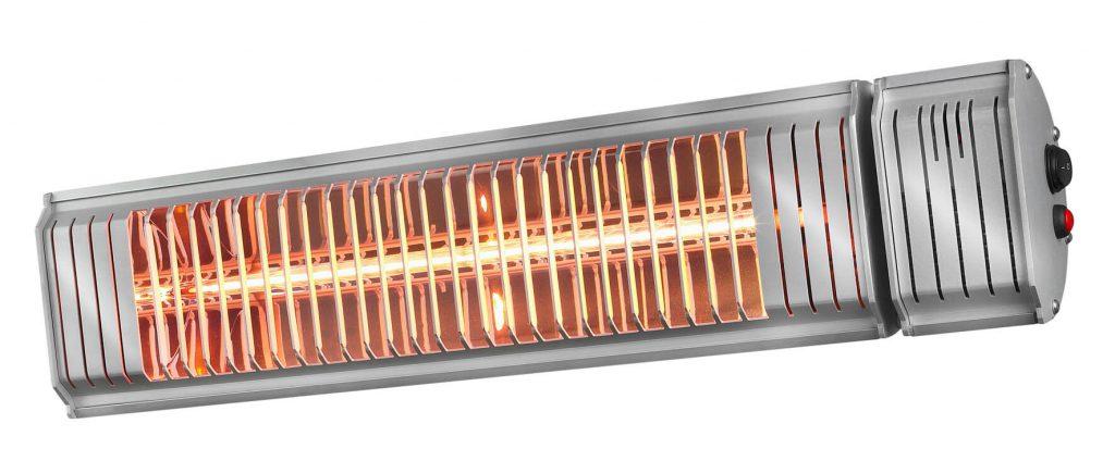 8713415334128 Golden 2000 Amber Smart Rotary elektrische terrasverwarmer draaiend