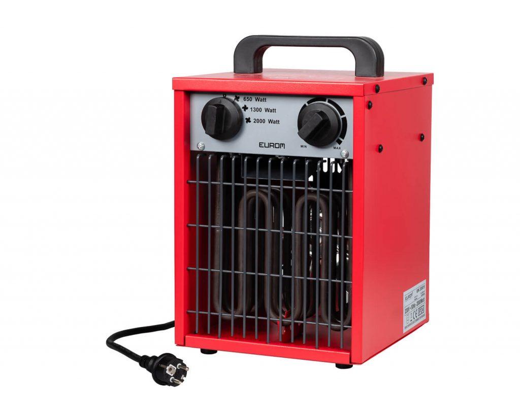8713415332629 EK2001 elektrische ventilatorkachel industriële verwarming werkplaatskachel 2000 Watt