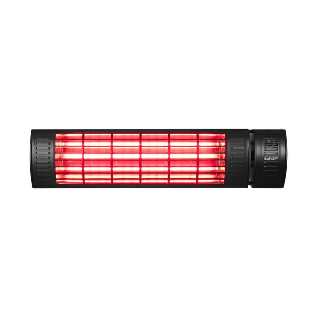 8713415334531 Golden 2000 Ultra RCD Black elektrische terrasverwarmer met afstandsbediening dimmer
