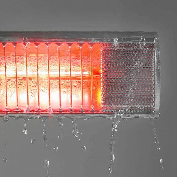 8713415333855 Golden 1300 Comfort elektrische terrasverwarmer 1300 Watt halogeen