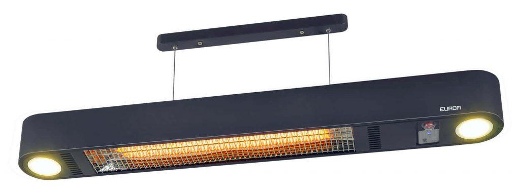 8713415334418 Ceilingheat 1500 RC terrasverwarmer plafond met licht en afstandsbediening