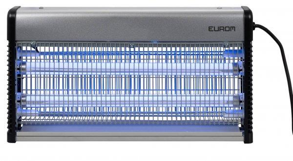 8713415211382 Fly Away Metal 30 LED insectendoder met LED lampen en 2200 Volt hoogspanningsrooster