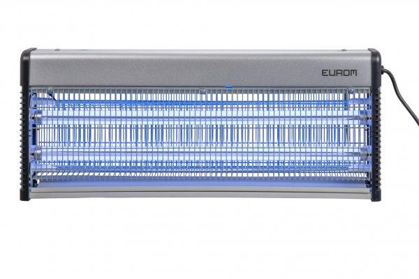 8713415211399 Fly Away Metal 40 LED insectendoder met LED lampen en 2200 Volt hoogspanningsrooster