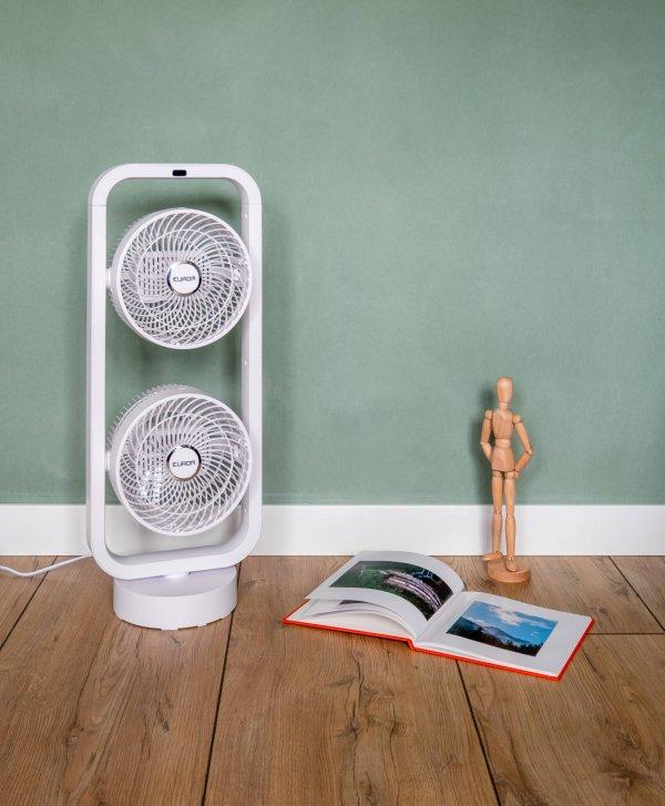 8713415384840 Vento 3D double staande ventilator met 2 ventilatoren 3D zwenken
