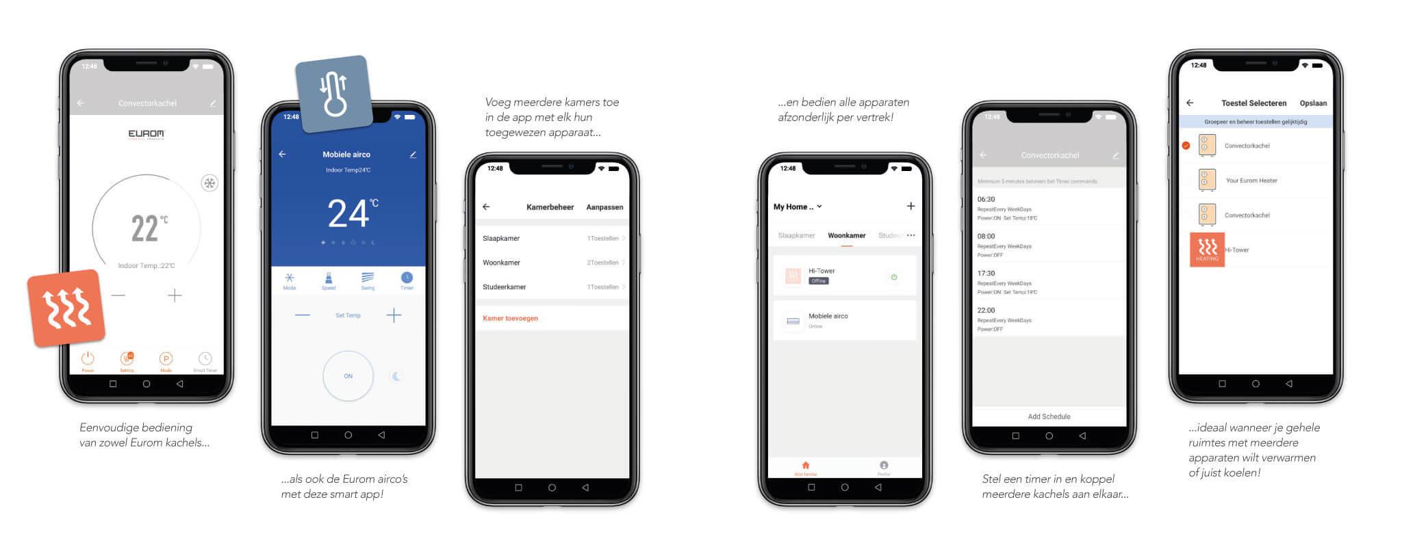 Voorbeelden Eurom Smart App
